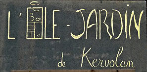 Bienvenue à lile jardin de Kervolan